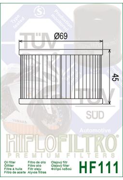 Filtro aceite HIFLOFILTER HF111 VT250 CB400 CX500 CX650