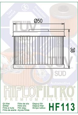 Filtro aceite HIFLOFILTER HF113 TRX 300/400/450 FOREMAN
