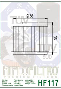 Filtro aceite HIFLOFILTER HF117 Caja Automática AFRICA TWIN CRF1000