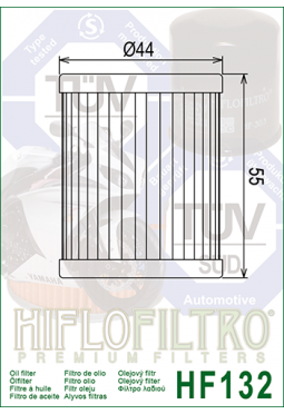 Filtro aceite HIFLOFILTER HF132 DR125/LT 160/230/250/300 4WD