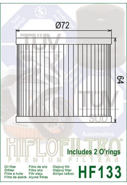 Filtro aceite HIFLOFILTER HF133 GS500/BANDIT400