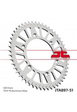 Corona de Aluminio JT KTM 125/250/300/360/620 51D Autolimpiante