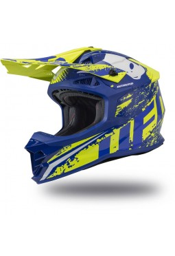 Casco Ufo Intrepid Azul - Amarillo Neon