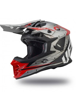 Casco Ufo Intrepid Gris - Rojo - Negro