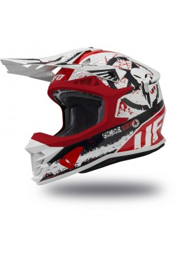 Casco Ufo Intrepid Blanco - Rojo Y Negro