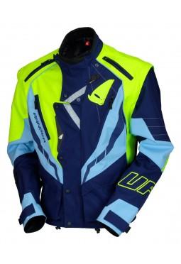 Chaqueta Ufo Ranger Enduro Azul-celeste-amarillo Fluo