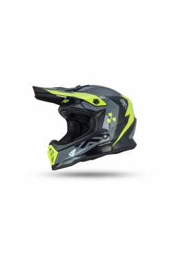 Casco Niño Ufo Voltage Gris Negro Amarillo