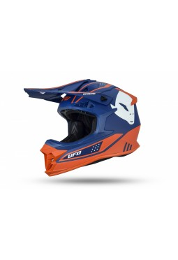 Casco Ufo Intrepid Azul Y Naranja