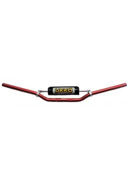 Manubrio Ukko Aluminio 7-8 22Mm Con Travesaño Y Pad Color Rojo